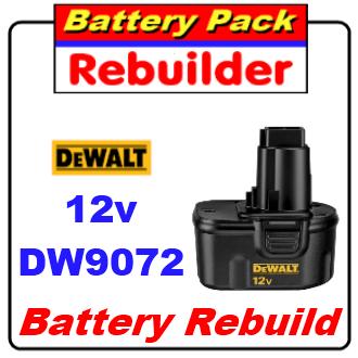 Dewalt 12v DW9072 battery rebuild / recell / replacement