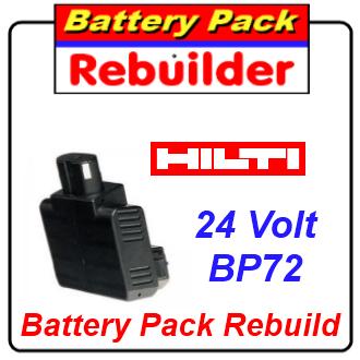 hilti 24v bp60 bp72 ni cd battery rebuild re cell replacement