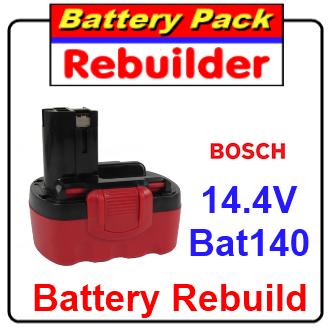Bosch 14.4v BAT140 battery rebuild / recell / replacement