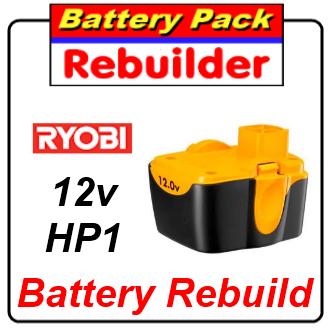 Ryobi 12 volt HP1 battery rebuild