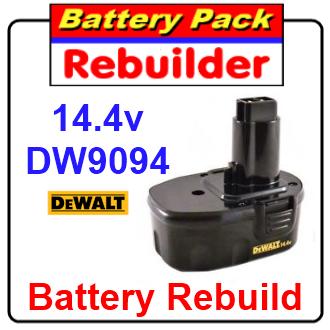 Dewalt 14.4v DW9094 battery rebuild / recell / replacement