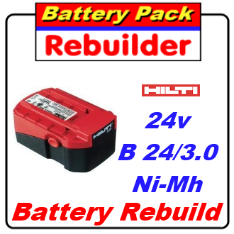 Hilti 24v B 24/3.0 Ni-Mh battery rebuild / recell / replacement