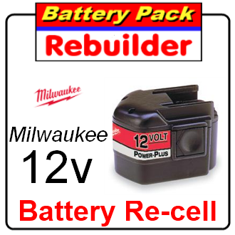 milwaukee 12v battery re-cell / rebuild / replacement