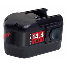 milwaukee 14.4v nicd-battery re-cell / rebuild / replacement