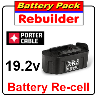 Porter Cable 19.2v 8823 or 8923 battery re-cell / rebuild / replacement