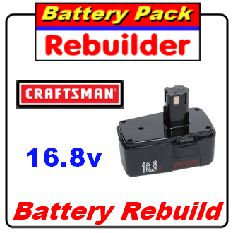 Craftsman 16.8v Battery Rebuild / Re-cell / Replacement